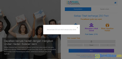 Menu penukaran poin situs paid survey ThePanelStation sudah diperbarui | SurveiDibayar.com