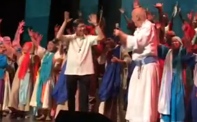Tagle and Pope dancing