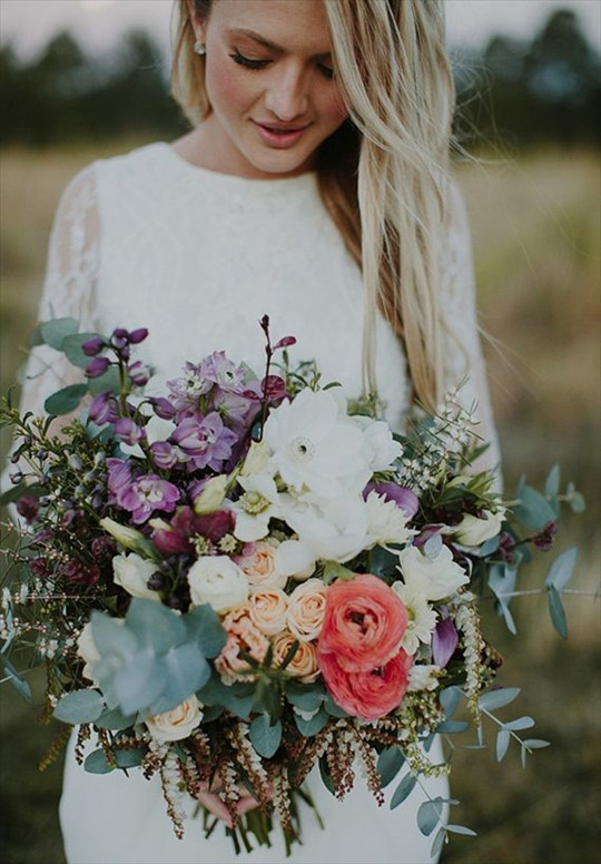 Perfect vintage Wildflower rose Boho bridal Bouquet