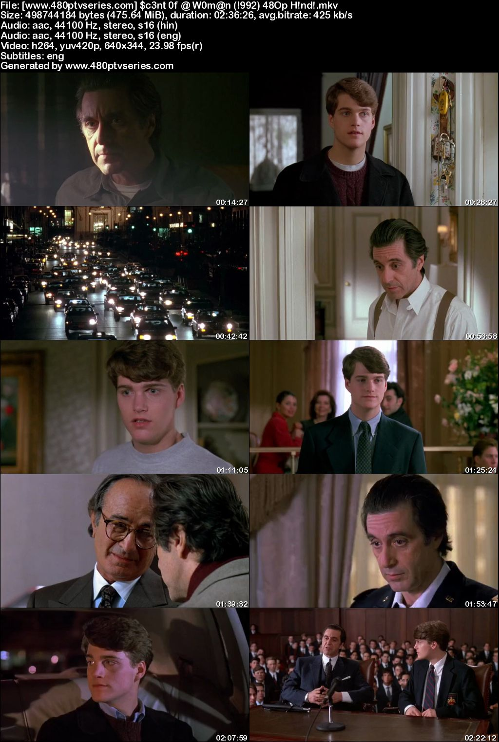 Scent of a Woman (1992) 450MB Full Hindi Dual Audio Movie Download 480p Bluray Free Watch Online Full Movie Download Worldfree4u 9xmovies