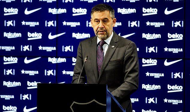 Barcelona president Bartomeu resigns