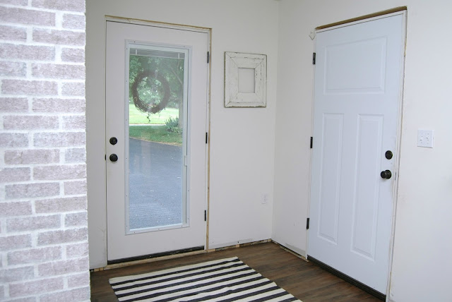 Painted interior doors with Sherwin Williams Iron Ore