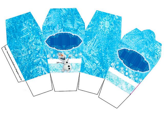Olaf Smiling: Free Printable Boxes.