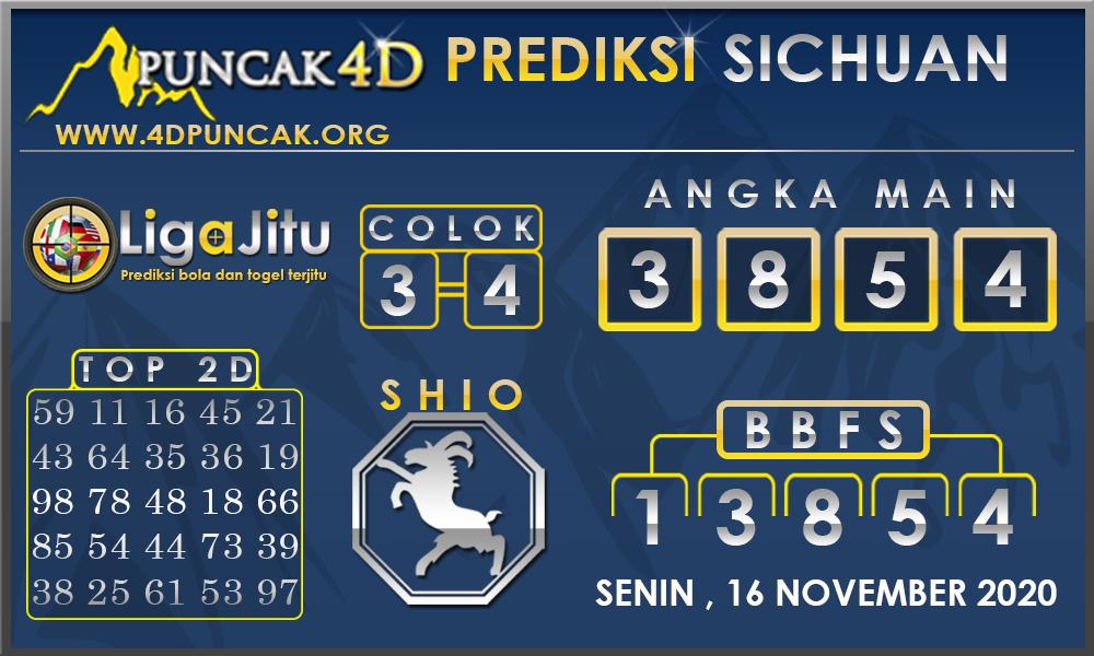 PREDIKSI TOGEL SICHUAN PUNCAK4D 16 NOVEMBER 2020