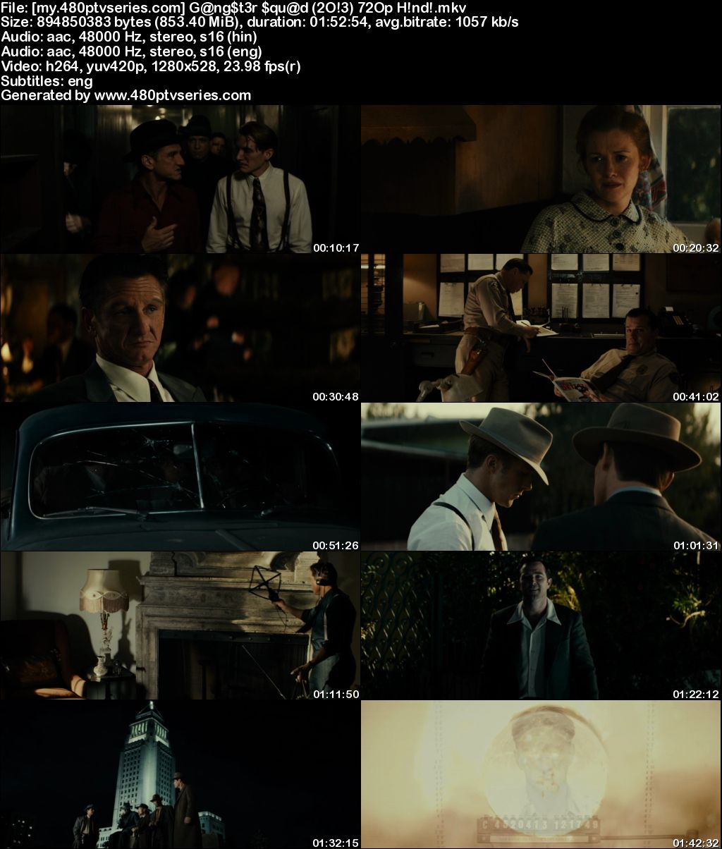 Watch Online Free Gangster Squad (2013) Full Hindi Dual Audio Movie Download 480p 720p Bluray
