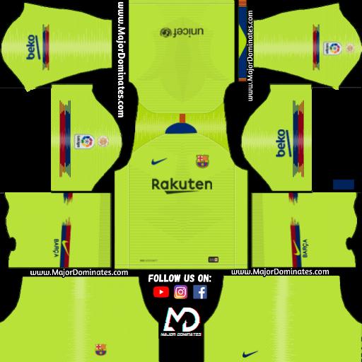 c5074bb24 FC Barcelona away kit. https   i.imgur.com AaKVaTW. Download FC Barcelona  Logo and Kits url for Dream League Soccer 2019