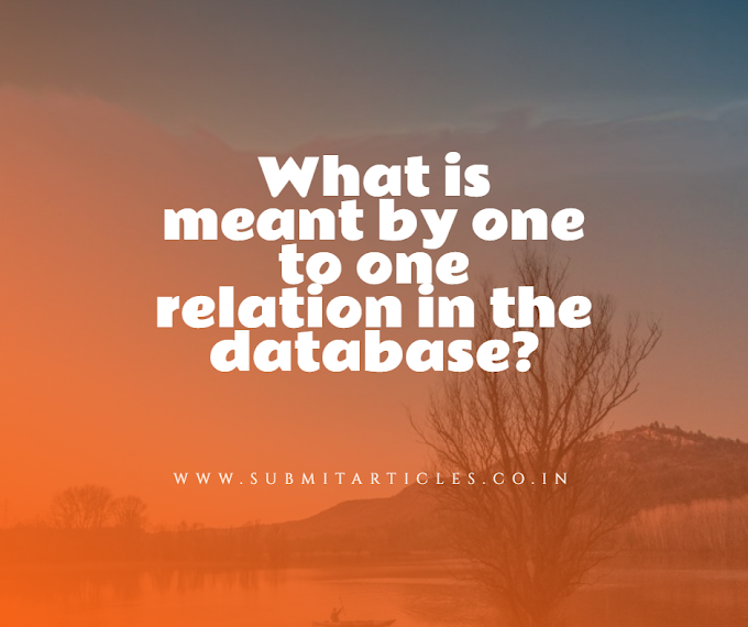 What is meant by one to one relation in the database?