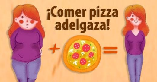 ¡Comer pizza adelgaza! Así es, expertos afirman esta teoría