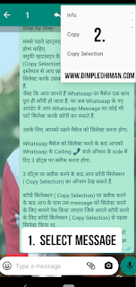 Whatsapp Latest Update Features Copy Selection