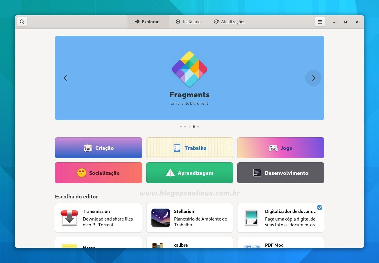 Loja do GNOME com vários aprimoramentos no GNOME 41