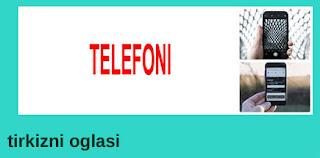 20 - PRODAJA TELEFONA TIRKIZNI OGLASI