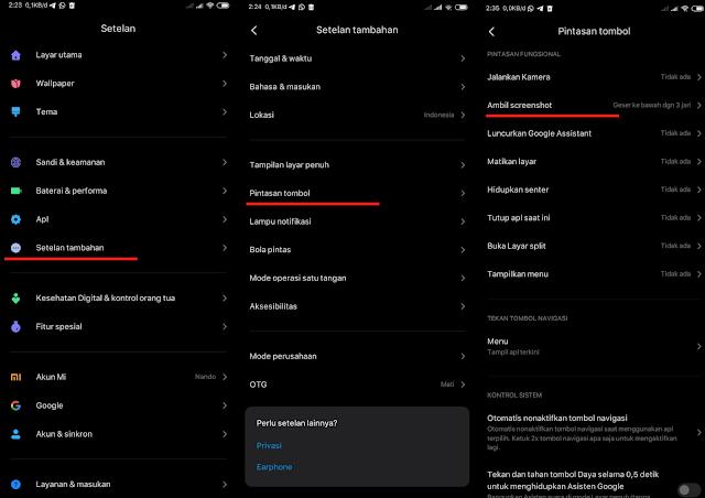 Cara Screenshot 3 Jari Xiaomi