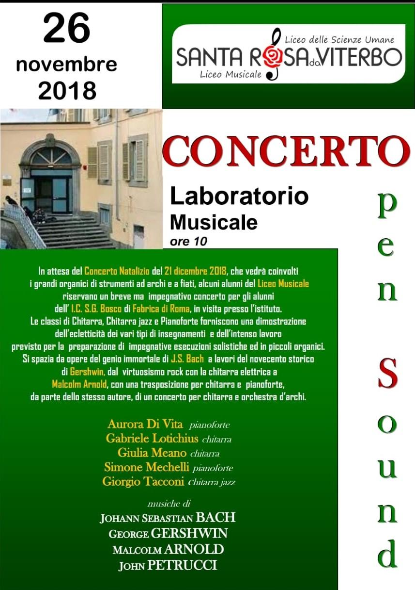 2018Da Sound26 PetrucciBlog Novembre A Liceo Del Open Bach uZXPiOk
