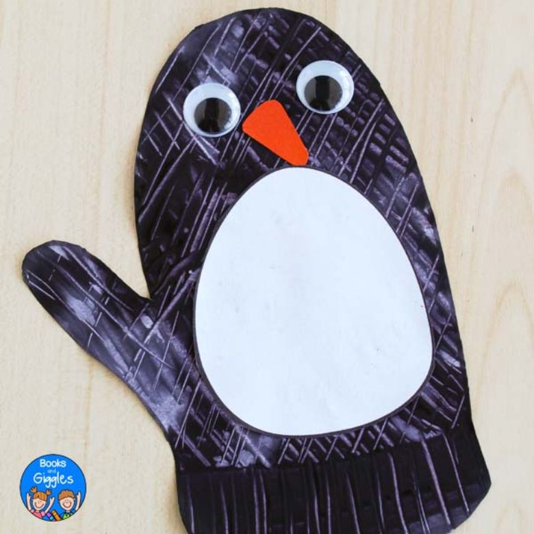 penguin mitten craft