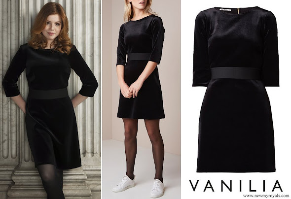 Princess Alexia wore Vanilia Velvet A-line Dress
