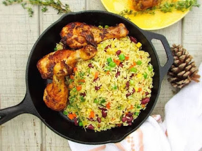 how to prepare Jollof rice with carrot and green beans