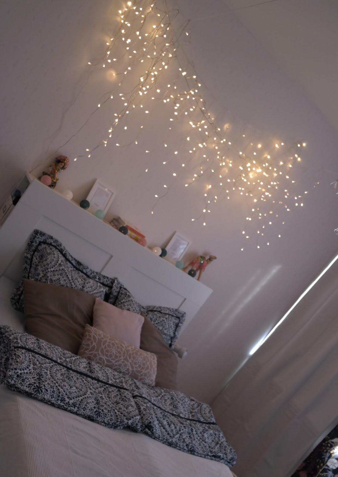 DIY valokatos sängyn päälle