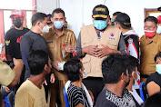 Pantau Vaksinasi Covid - 19 di Kampung Bahari Nusantara Talise, Gubernur Ingatkan Warga Laksanakan Prokes