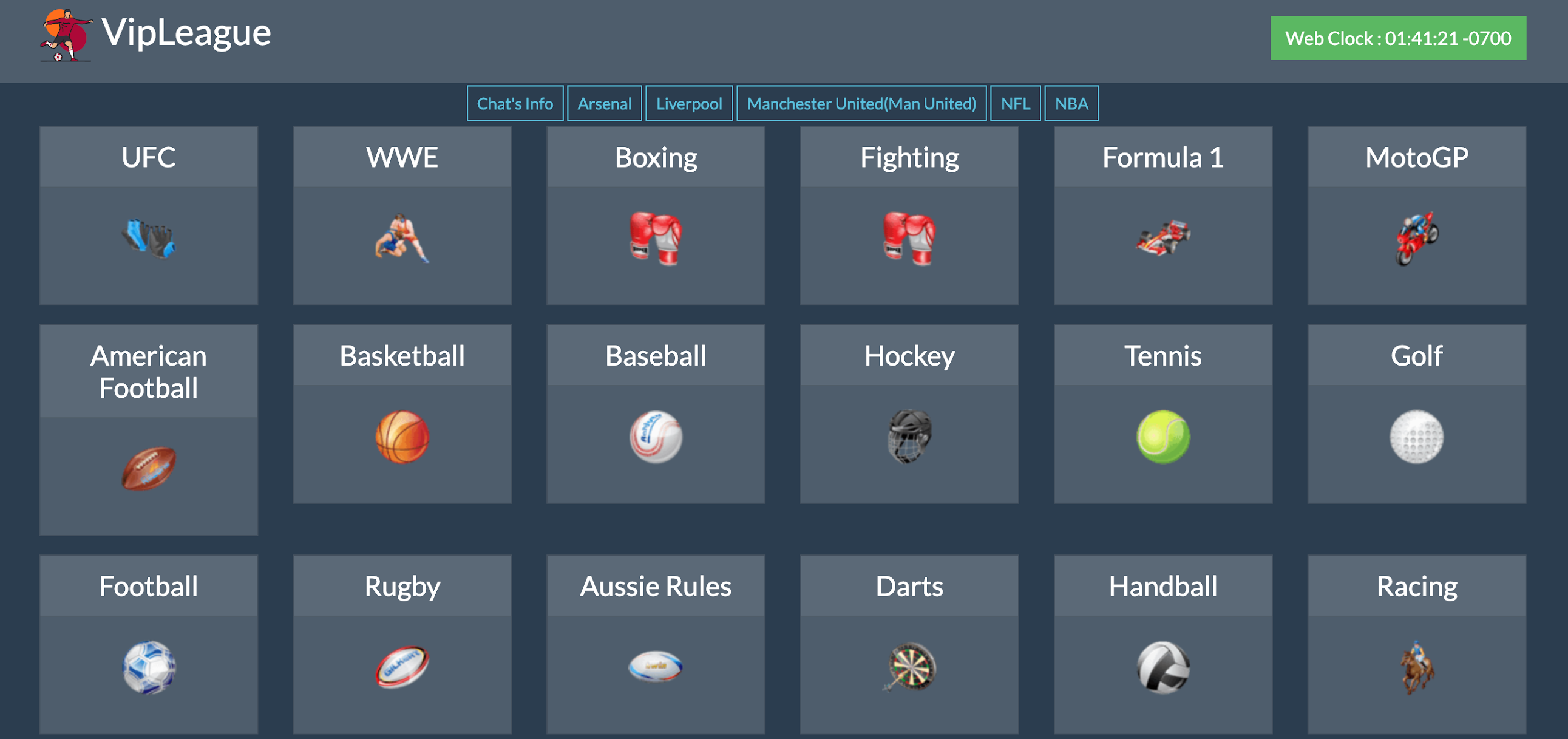VIPLeague free live sports streaming  website