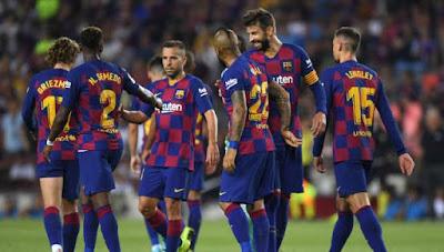 مباراة برشلونة وفيا ريال ضمن مباريات الجولة السادسة من بطولة الدوري الاسباني