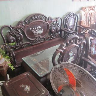 bộ bàn ghế gỗ trăc nhỏ