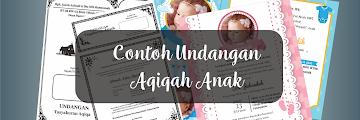 Contoh Undangan Aqiqah Anak Sederhana, via Word