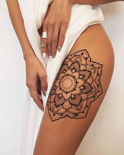 Mandala Henna Tattoos For Women