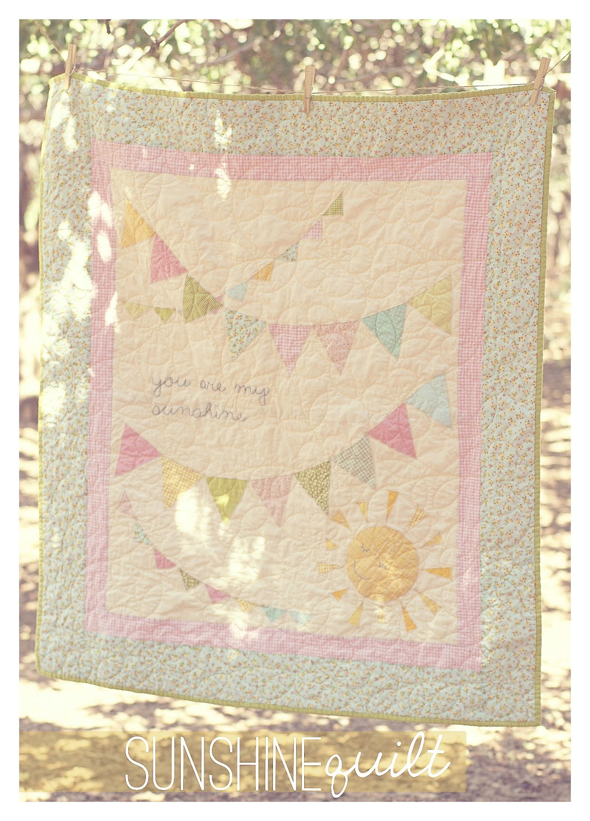 Are Sunshine My You Panel Quilt