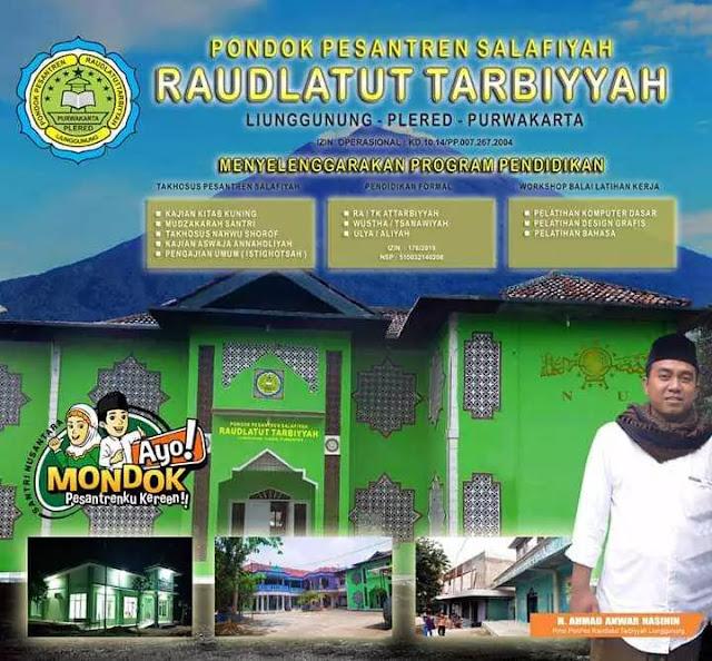 Terima Siswa Baru 2020/21, Ponpes Raudlatut Tarbiyyah Plered buka pendaftaran online