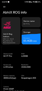 AbhiX ROG Edition 20.10.22 - OFFICIAL has been Released For Supported Devices
