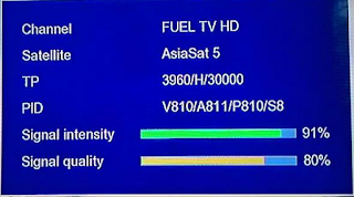 Frekuensi FUEL TV HD