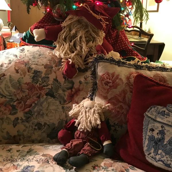 Christmas country decor Santa