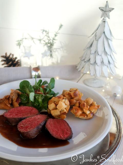 Rehrücken als Hauptspeise des Weihnachtsmenüs 2016