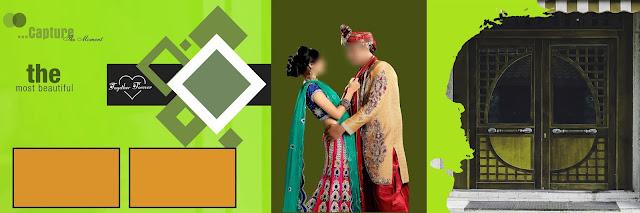 indian wedding album cover design 12x36 psd templates part 10