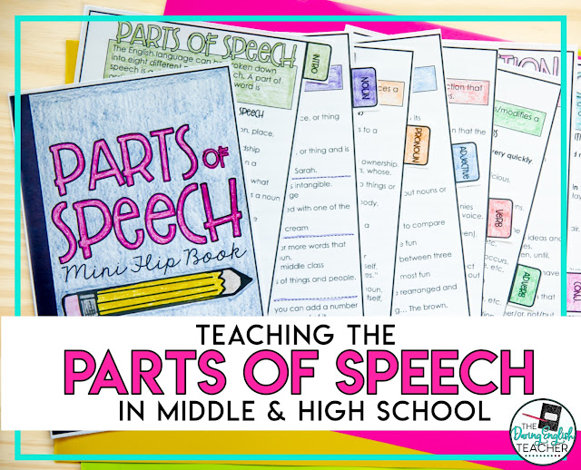 How to Teach the Parts of Speech in the Secondary ELA Classroom