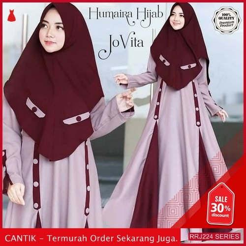 Jual RRJ224D144 Dress Muslim Jovita Wanita Syari Sk Terbaru BMGShop