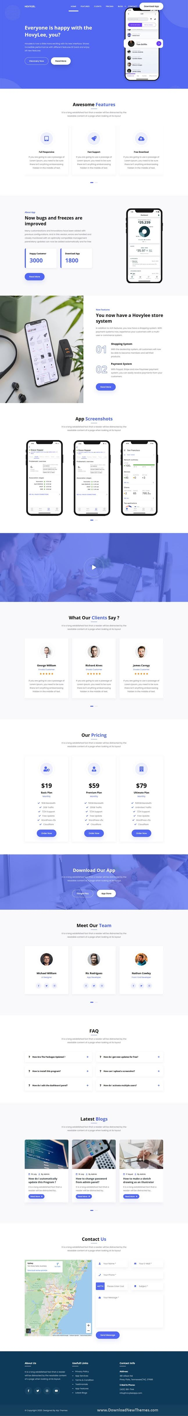App Landing Page HTML5 Template