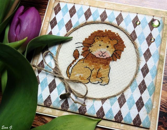 Zwierzęca wymianka kartkowa - lwy