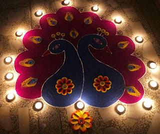 beautiful peacock rangoli for diwali, peacock rangoli designs, easy rangoli designs for diwali, best rangoli designs for diwali, latest rangoli designs, how to make rangoli