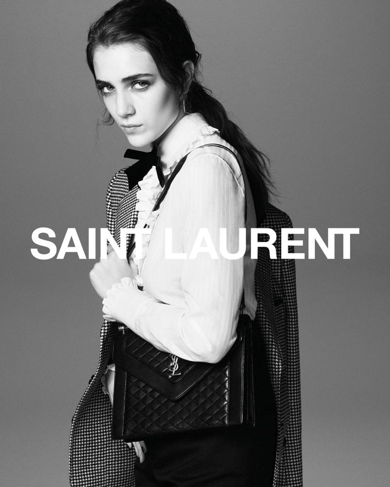 Talia Ryder stars in Saint Laurent fall 2021 campaign.