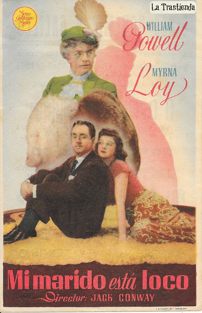 Programa de Cine - Mi Marido está Loco - William Powell - Myrna Loy