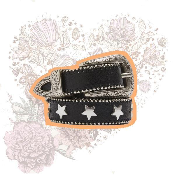 Star Stud Skinny Belt - £24.00