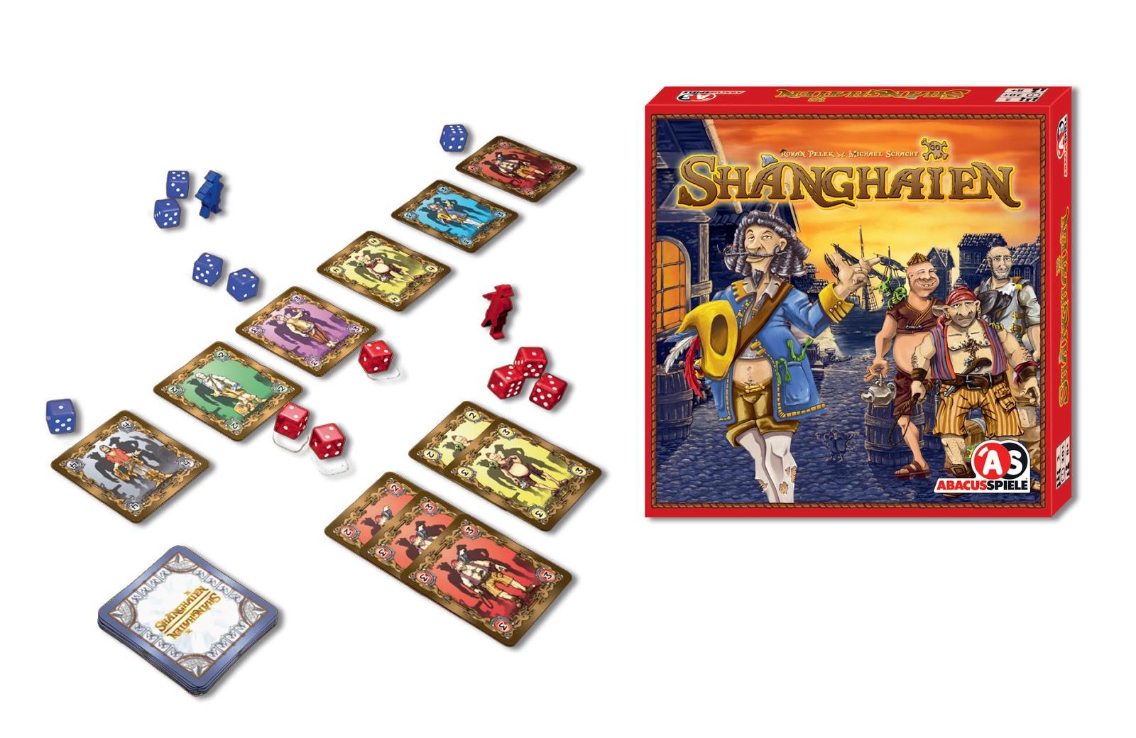 Reseña de Shanghaien, juego de dados para dos jugadores editado por Abacusspiele