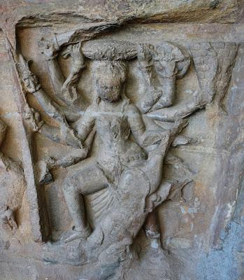 Durga as Mahishasuramardini at Udayagiri Caves, Vidisha, Madhya Pradesh