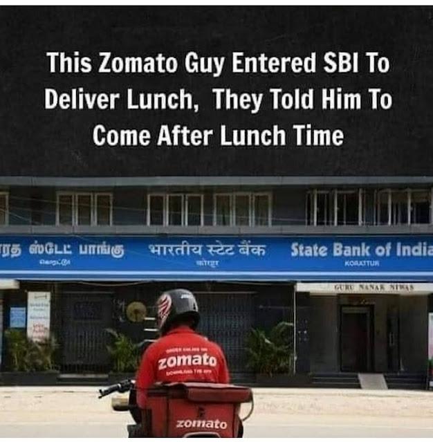 Funny SBI Jokes | SBI Lunch Time Meme | SBI Employee Jokes