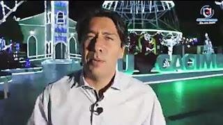 O prefeito de Cacimba de Dentro Nelinho Costa apresenta como vai ficar a praça com iluminação natalina