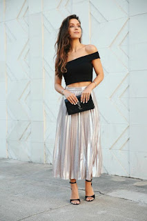 Skirt with Crop Top