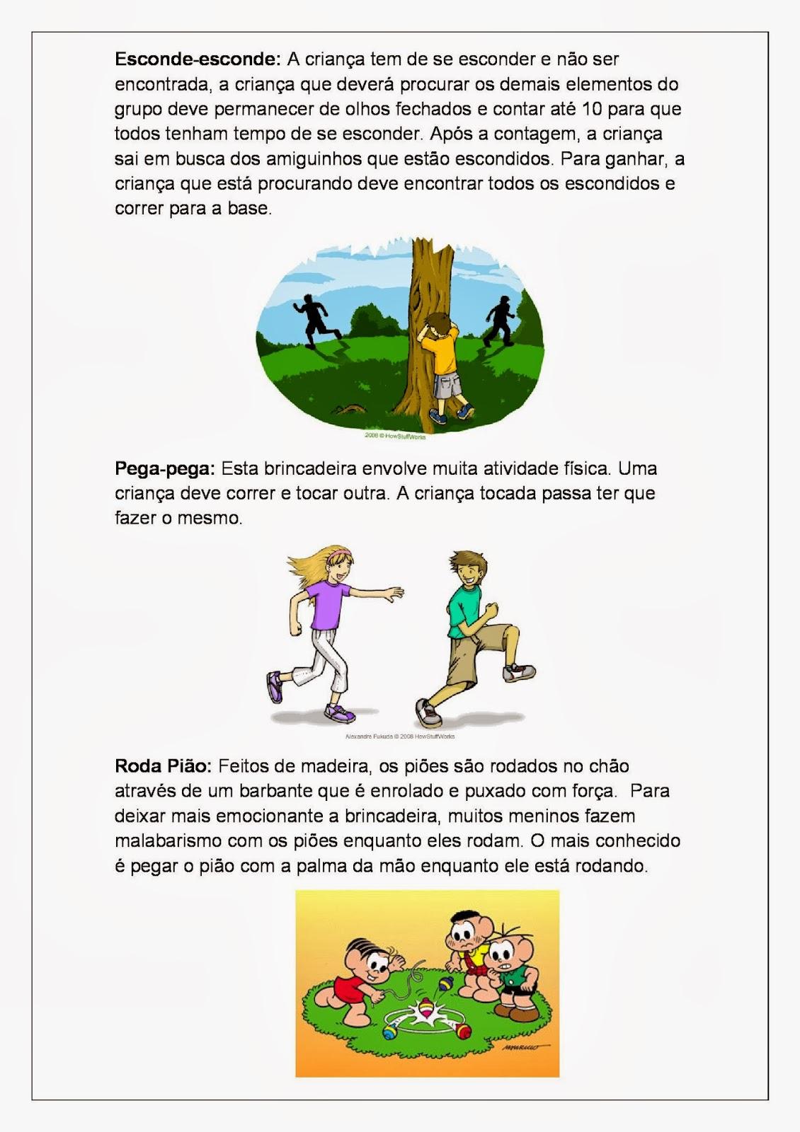 Brincadeiras Folclóricas - Folclore para imprimir