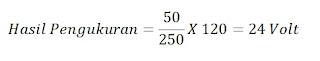 Rumus pengukuran Voltmeter