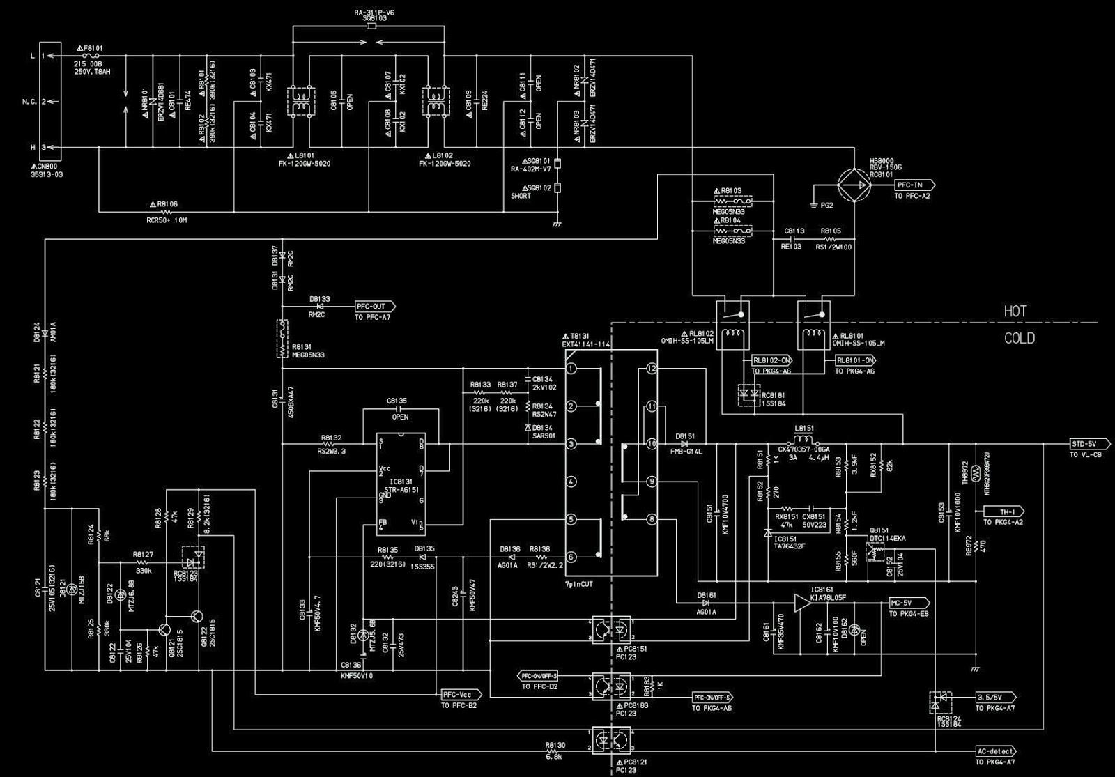 Schematic Diagrams  Samsung Ppm42h3 And Xoceco 6ha0182010 Model Ph
